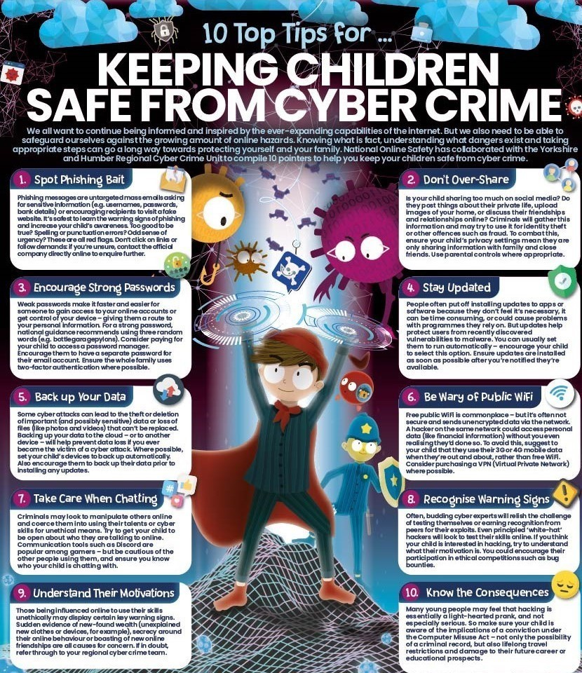 10 Top Tips for Keeping Children Safe From Cyber Crime